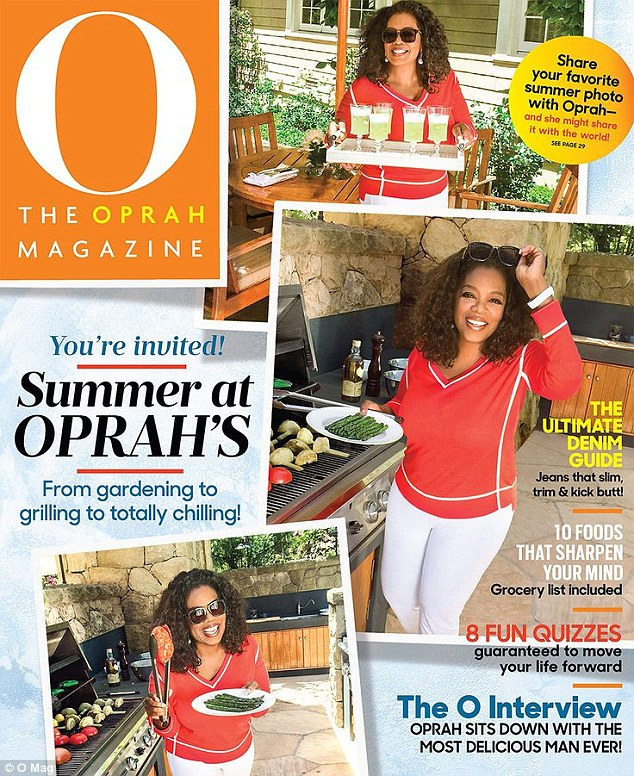 A misstep: The article has caused a huge online backlash against TV star Oprah's O Magazine