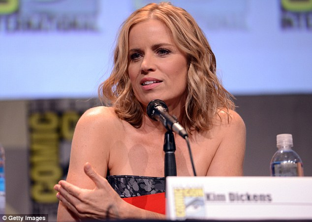 Rising star: Kim Dickens (seen here on Friday on Comic-Con) has been gaining recognition lately for her recent roles in Gone Girl, Sons Of Anarchy and The Blind Side