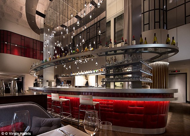 Guests staying in the 250-room hotel also get free drinks in the bar from 6-7pm
