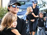 Single-mom Kourtney Kardashian carried daughter Penelope into the movies, with son Mason at her side. \nSaturday, November 21, 2015 X17online.com