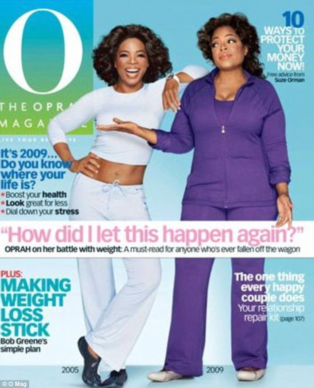 Repeat: The 2005 image was used once again by the magazine in 2009 for a cover feature that saw Oprah admit to gaining 40 pounds over the four years. Her current self was features without a crop top