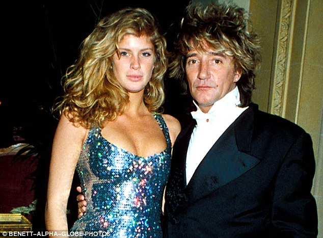 Rod Stewart's ex-wife Rachel Hunter (left), who divorced him in 2006, said she still can't bear to read his book
