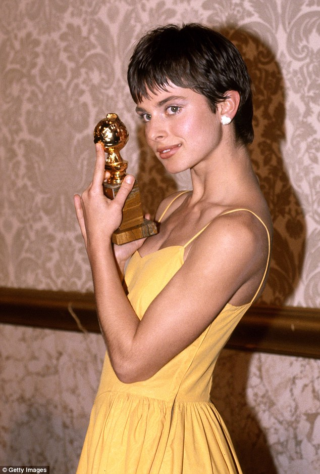 Is this the woman he was talking about?: Both Lowe and Taylor were linked to actress Nastassja Kinski, now 54; here she is seen in 1981 at the Golden Globe Awards