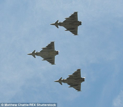 The Eurofighter Typhoon in today's fly-past