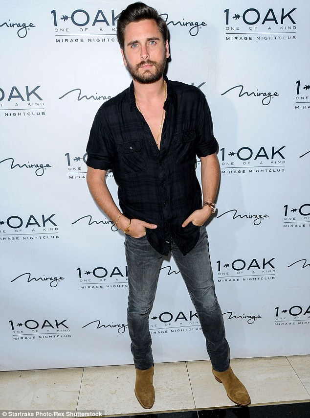 Pulling out at the last minute: Scott Disick has cancelled an appearance at 1Oak nightclub in Las Vegas, where he is pictured in March