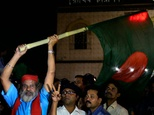 Bangladeshi activists  early on November 22, 2015 outside Dhaka's Central Jail where Bangladeshi Nationalist Party leader Salahuddin Quader Chowdhury and Jam...