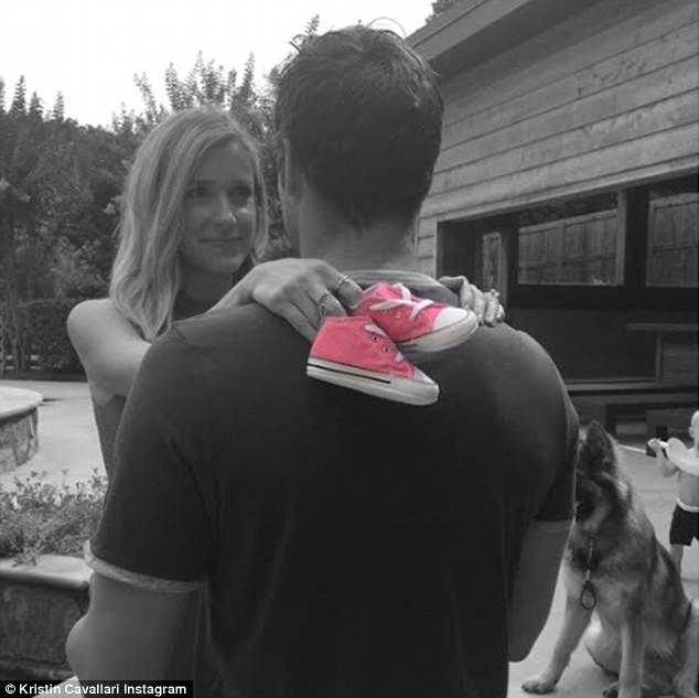It's a girl: Kristin Cavallari shared this sweet photo to announce she and Jay Cutler are having a daughter