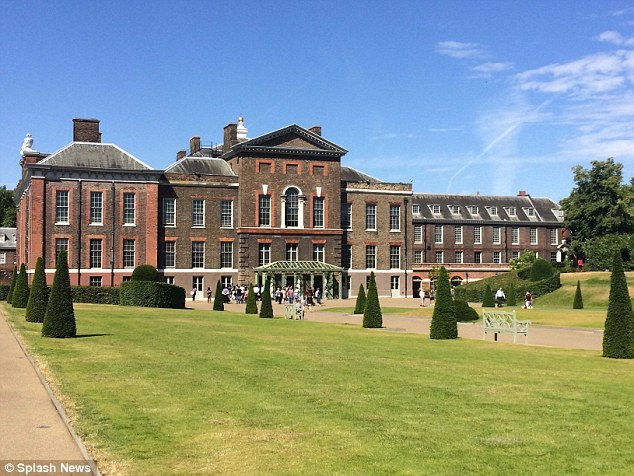 Upscale locale: The wedding is being held at Kenginton Palace in London today