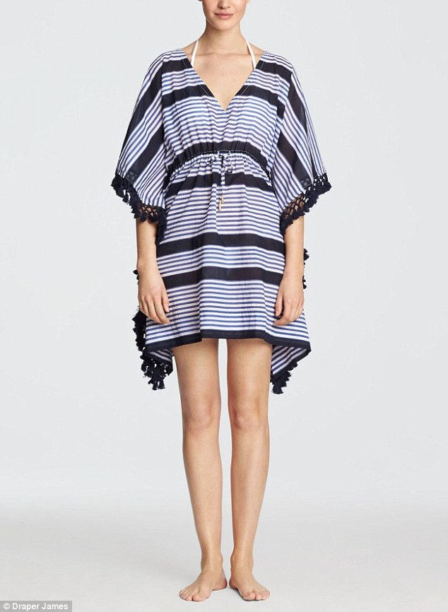 Southern charm: The Kiawah cover-up as shown on the Draper James website