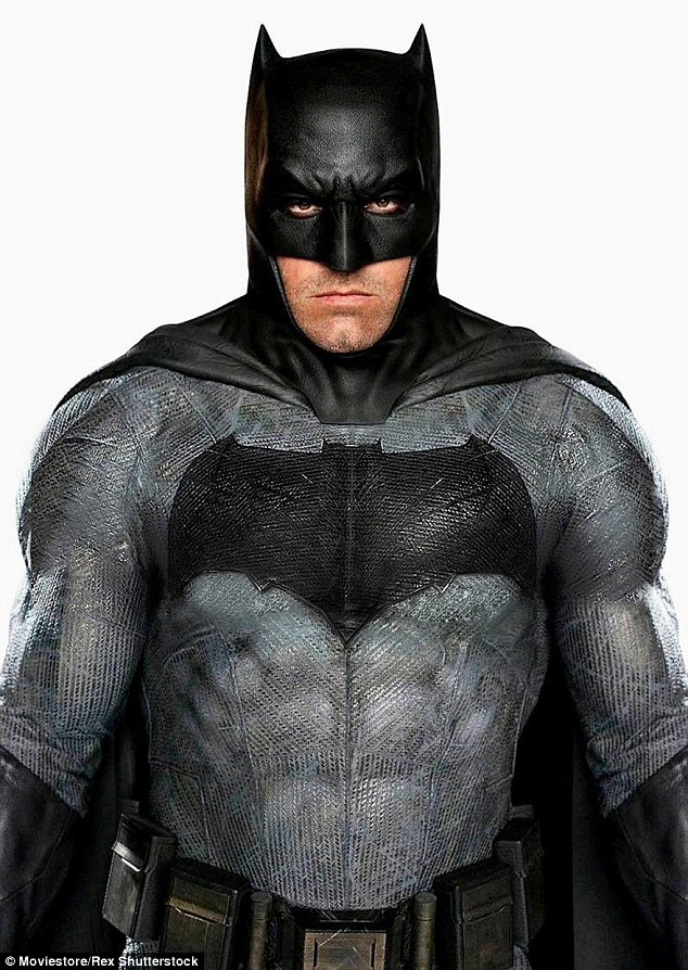 His suit is different: The Boston native as Batman in a still of him for Batman v Superman