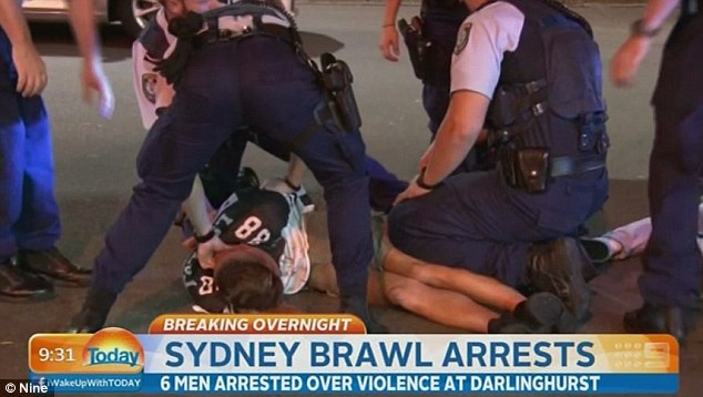 The fight happened in the early hours of Sunday morning in Kings Cross, Sydney