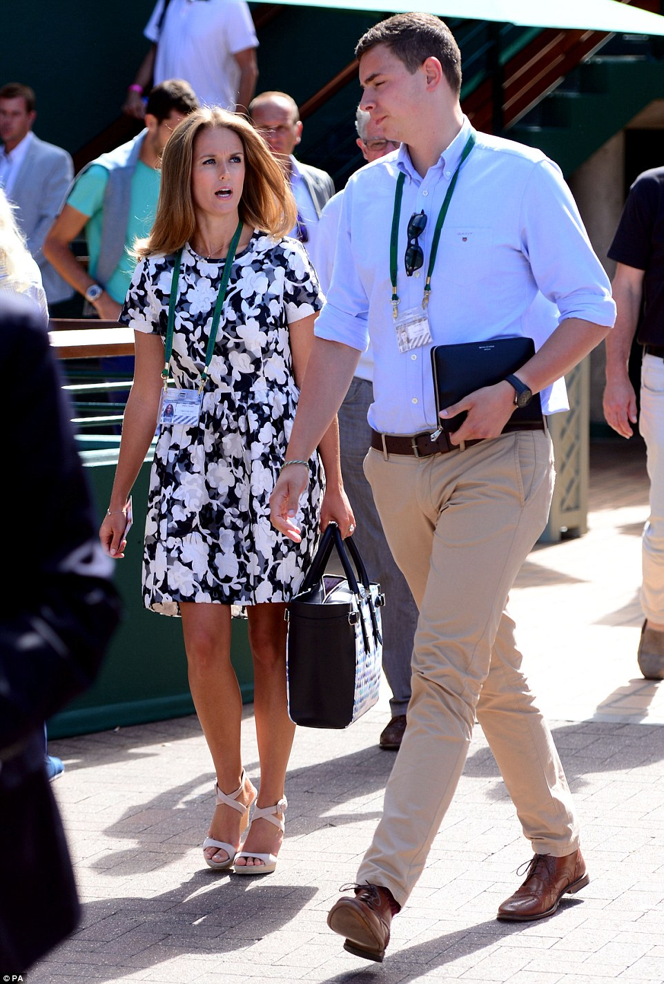 Pretty as a petal: Andy Murray's wife Kim Sears was there to support her man on Friday