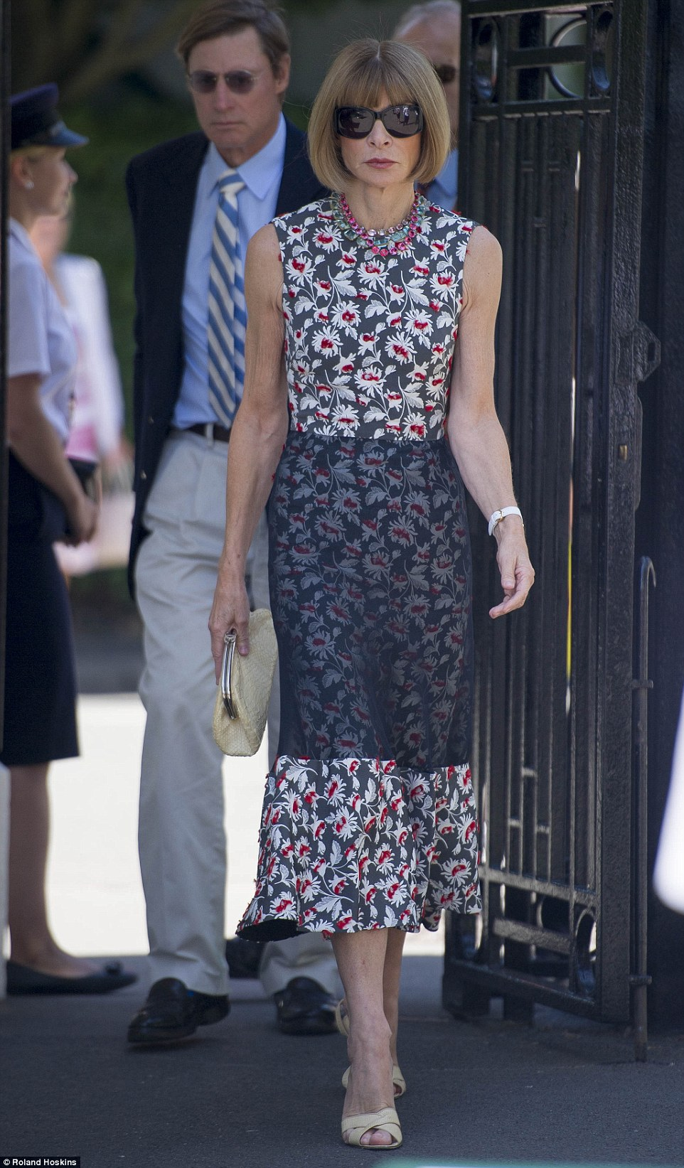 Here she comes: US Vogue's Anna Wintour was also inattendance on Friday