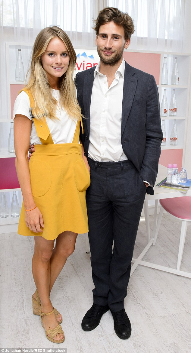 The pair, previously keen to hide their relationship, happily posed together in the Evian Live Young Suite