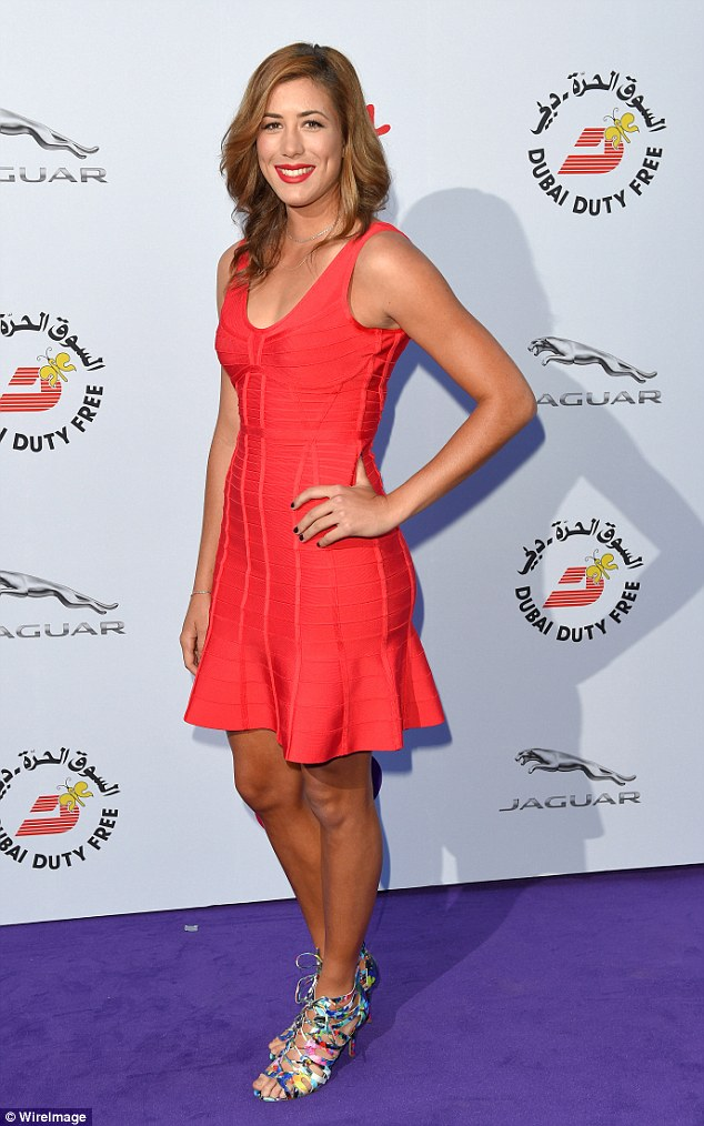 Who? Garbine Muguruza, pictured at the WTA Pre-Wimbledon Party at Kensington Roof Gardens, is the surprise finalist in the women's singles match tomorrow