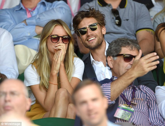 Prince Harry's ex-girlfriend Cressida Bonas was pictured at Wimbledon today with Edward Holcroft
