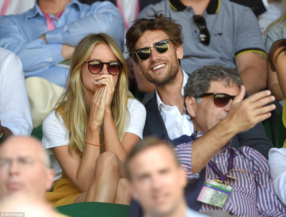 She's a sport: Cressida Bonas was seen having a wonderful time on day eleven of the Wimbledon