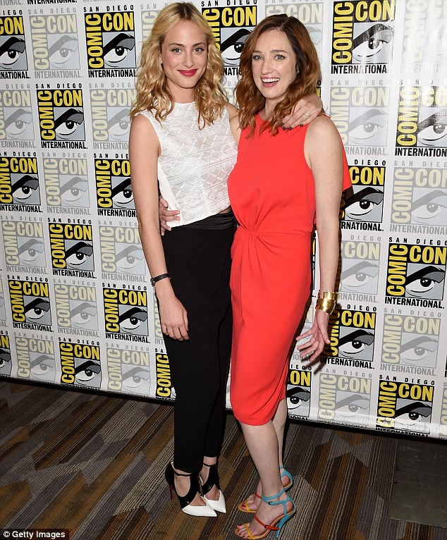 Just the two of us: Nora Arnezeder and Kristen Connolly donned drastically different looks as they attended the CBS panel