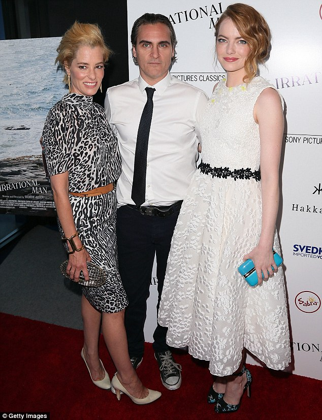 A-listers: Emma joined co-stars Joaquin Phoenix and Parker Posey