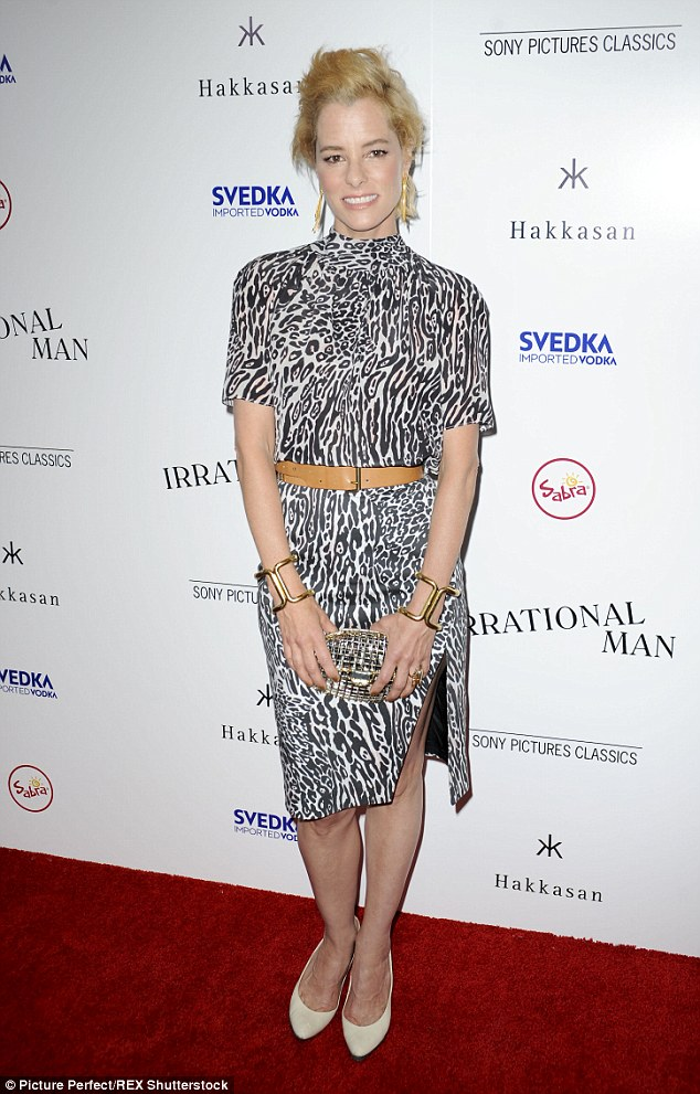 Meow! The 46-year-old expressed her animal side with a cheetah print dress