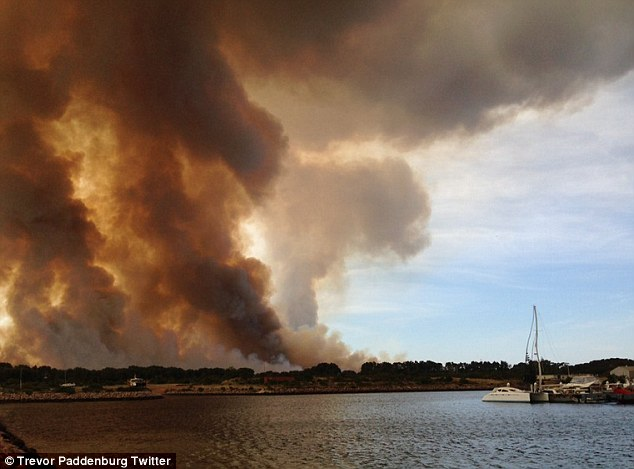 A fire at Bandy Creek in Esperance on Sunday