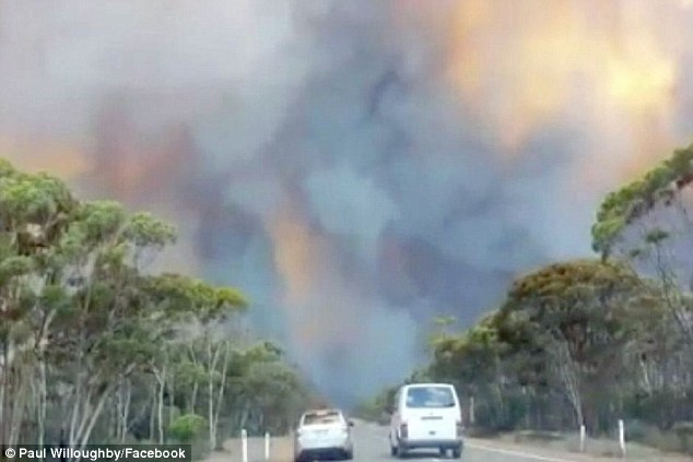 The Goldfields-Esperance highway north of Salmon Gums, where out of control fires have claimed four lives