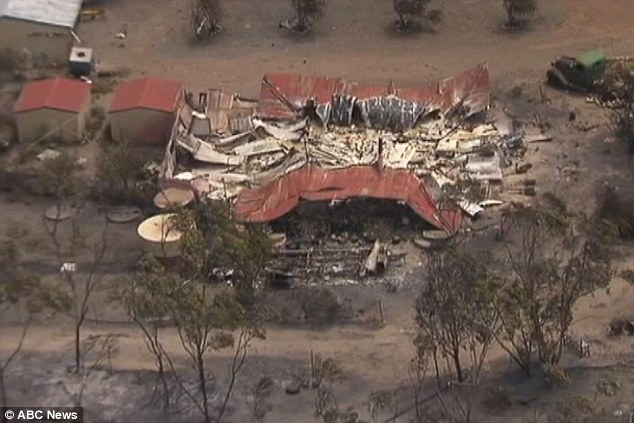 A number of properties have been destroyed in the out of control blaze near Esperance