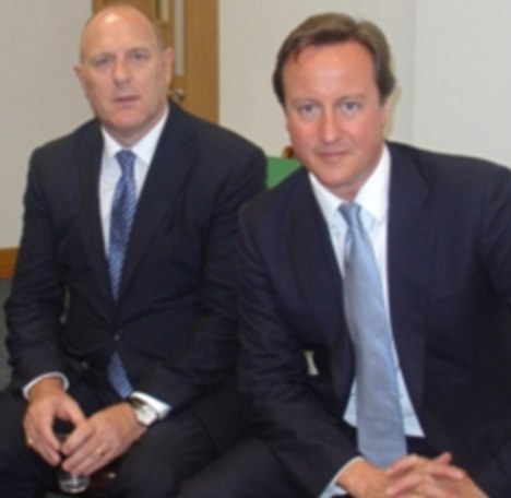 Scandal: Disgraced Peter Cruddas , pictured left with Prime Minister David Cameron MP, was forced to resign over his 'cash-for-access' boasts