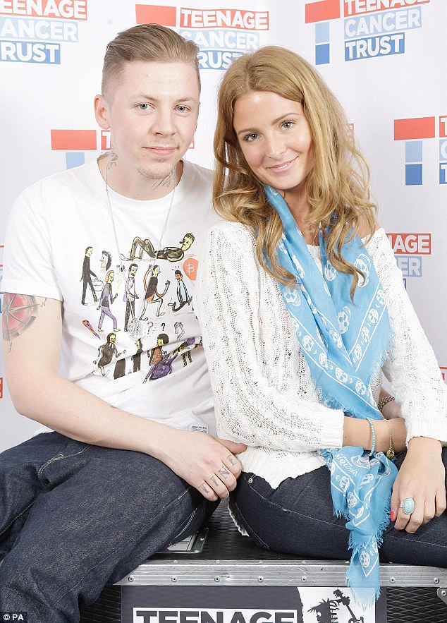 Fresh faced: Made In Chelsea's Millie Mackintosh showed off her natural beauty as she supported boyfriend Professor Green at the Teenage Cancer Trust concert