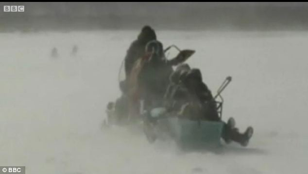 Ice fishermen routinely get stranded on ice floes in Russia, especially in the spring as the temperatures rise