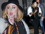 November 20, 2015: Adele was seen leaving her hotel wearing a fur jacket and bell bottoms heading to dinner in New York City.\nMandatory Credit: T.Jackson/INFphoto.com Ref: infusny-284