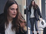 New York, NY - Actress Keira Knightley steps out solo on a cloudy New York afternoon as she attempts to run errands on her own. The pretty mama showcased her natural beauty as she went makeup free and donned a cream cable knit sweater and grey trousers paired with black ankle boots. \nAKM-GSI       November 21, 2015\nTo License These Photos, Please Contact :\nSteve Ginsburg\n(310) 505-8447\n(323) 423-9397\nsteve@akmgsi.com\nsales@akmgsi.com\nor\nMaria Buda\n(917) 242-1505\nmbuda@akmgsi.com\nginsburgspalyinc@gmail.com