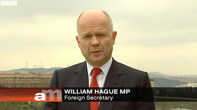 Claims: Foreign Secretary William Hague said Britain is better prepared to withstand a strike by tanker drivers because of the actions taken by the Government over the past week