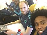 Willian and team-mates
