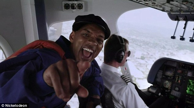 Here we go: Will Smith surprised viewers by jumping out of a blimp to open the  Nickelodeon's Kids' Choice Awards