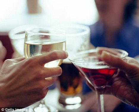 Watch those drinks: The French study found people who thought they had been drinking believed they were sexier than how others viewed them