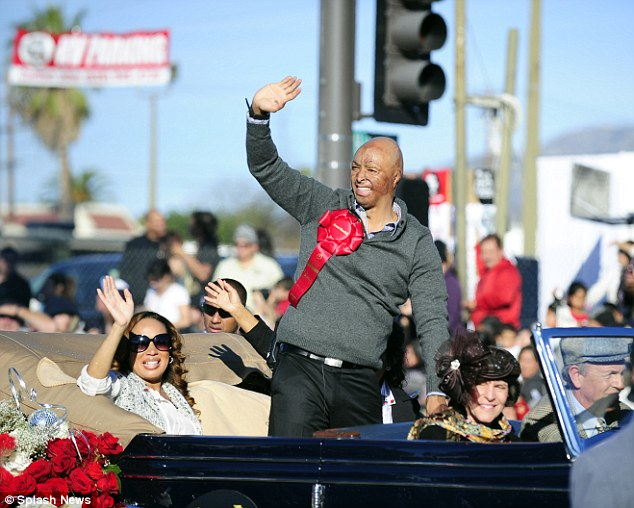 Grand Marshall: Former U.S Army soldier led the way at the 123rd Pasadena Rose Parade in California today