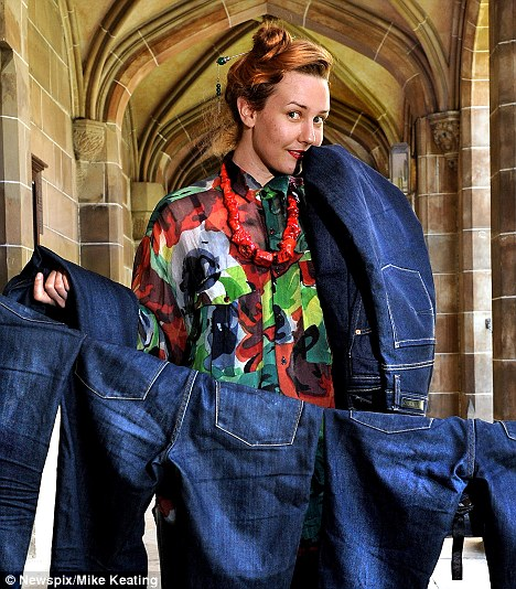 Common scents: Melbourne researcher Tullia Jack believes jeans don't need to be washed regularly