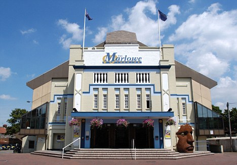 The pantomime is being showing at the Marlowe Theatre, pictured