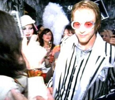 Familiar territory: JT played Elton in a David LaChapelle video of Rocket Man