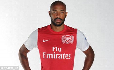Leaked: Pictures of Thierry Henry in Arsenal's new kit are the talk of Twitter