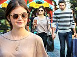 Picture Shows: Lucy Hale, Anthony Kalabretta  November 21, 2015\n \n Actress Lucy Hale and her boyfriend Anthony Kalabretta spotted in Brentwood, California. The two did some light shopping while they explored the area, new decorated for the upcoming holiday season.\n \n Non Exclusive\n UK RIGHTS ONLY\n \n Pictures by : FameFlynet UK ? 2015\n Tel : +44 (0)20 3551 5049\n Email : info@fameflynet.uk.com