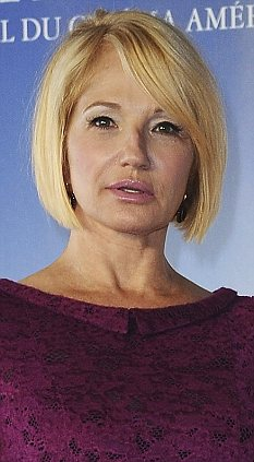 Angry: Ellen Barkin took to Twitter to complain about being shoved by an NYPD officer