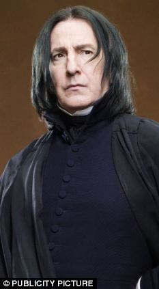Dark arts: Alan Rickman is thought most likely to win an award at next month's ceremonies for his turn as Professor Severus Snape