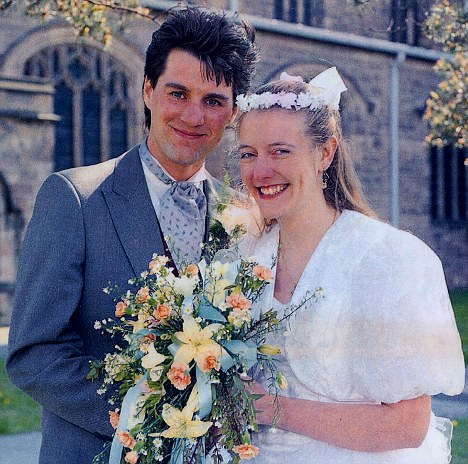 Battle: Stephen and Diane Blood on their wedding day in 1991. She became pregnant using his sperm after he fell into a coma