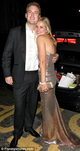 Newlyweds: Branson with husband Freddie Andrews at their engagement party last April