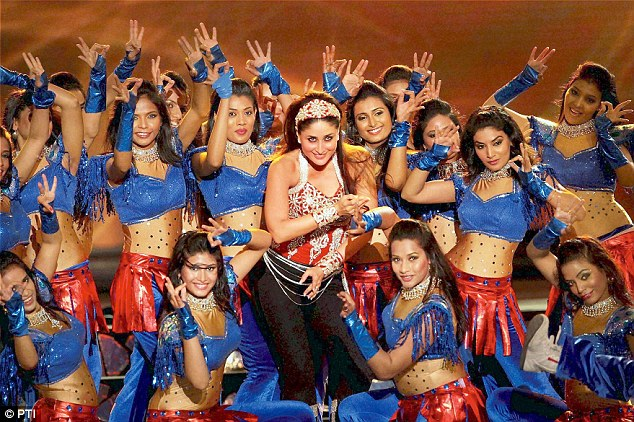 Kareena Kapoor performs during the opening ceremony of the fifth edition of the Indian Premier League in Chennai on Tuesday