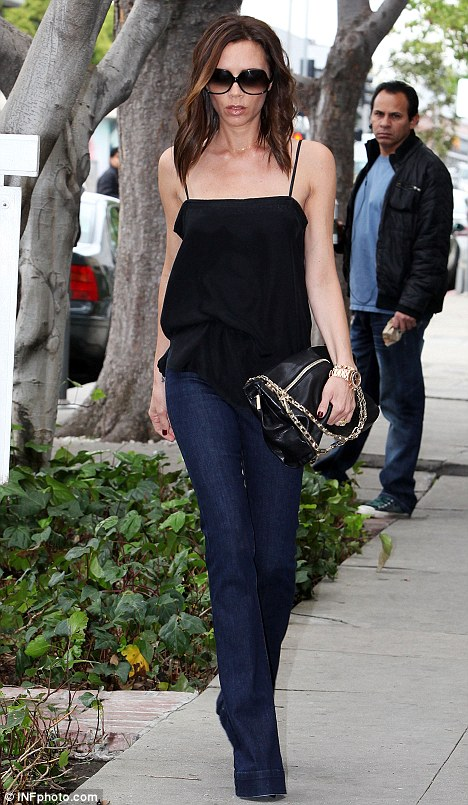 Dab hand in the kitchen? Victoria spotted out in Hollywood on March 23