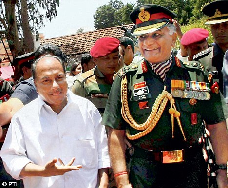 Defence Minister A K Antony (pictured left) and Army Chief Gen V K Singh (pictured right)