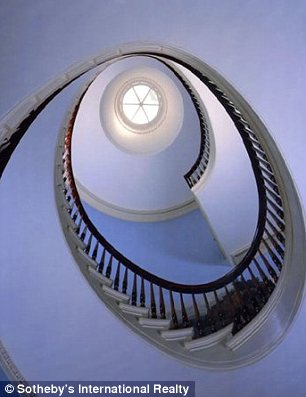 Staircase at Truman Capote house